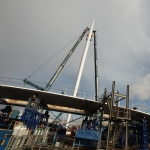 hovenring - circular cycle bridge - construction - fietsrotonde - eindhoven