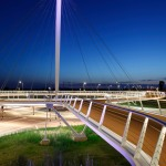 lighting - hovenring - circular cycle bridge - pylon - fietsrotonde - eindhoven