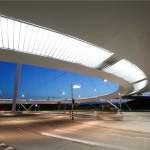 lighting - hovenring - circular cycle bridge - lamellae - fietsrotonde - eindhoven