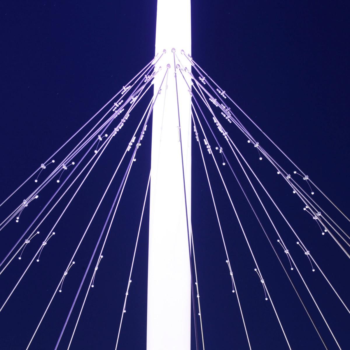 lighting - hovenring - circular cycle bridge - dampers - fietsrotonde